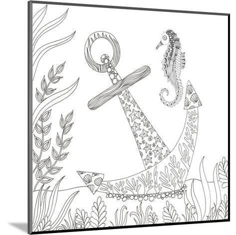 Anchored Seahorse-Pam Varacek-Mounted Art Print