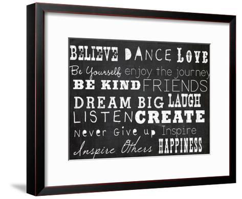 Chalk Inspiration-Ophelia & Co^-Framed Art Print