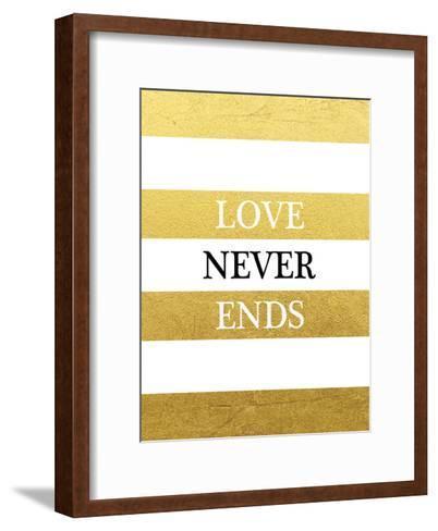 Love Never Ends-Victoria Brown-Framed Art Print