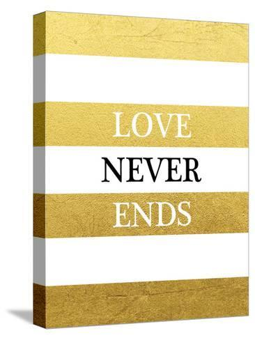 Love Never Ends-Victoria Brown-Stretched Canvas Print