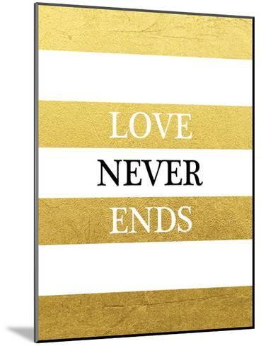 Love Never Ends-Victoria Brown-Mounted Art Print