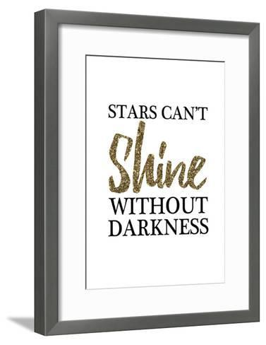 Stars Cant Shine Without Darkness-Victoria Brown-Framed Art Print