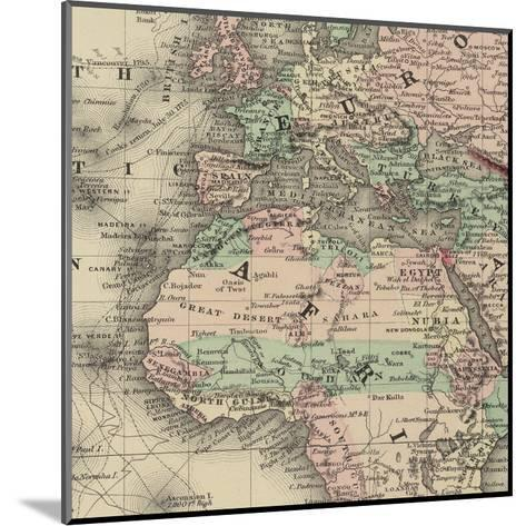 Africa Map-Ophelia & Co^-Mounted Art Print