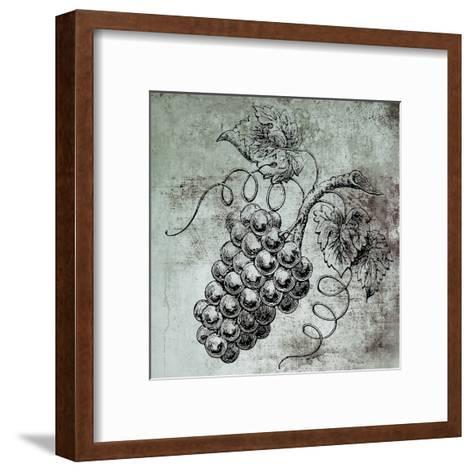 Vine Grapes-Victoria Brown-Framed Art Print
