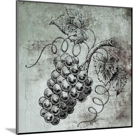Vine Grapes-Victoria Brown-Mounted Art Print