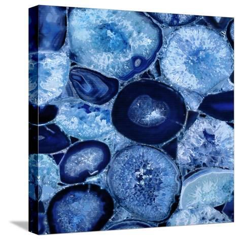 Agate in Blue I-Danielle Carson-Stretched Canvas Print