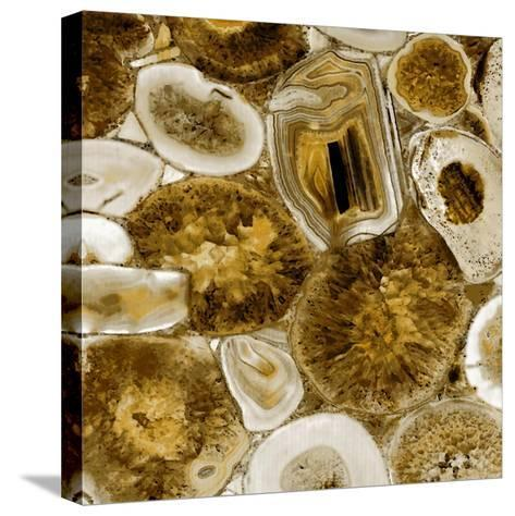 Agate in Gold I-Danielle Carson-Stretched Canvas Print