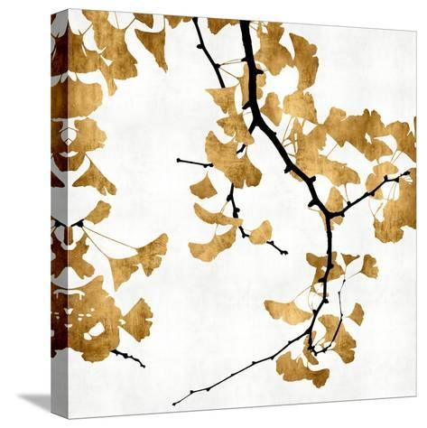 Ginko in Gold II-Kate Bennett-Stretched Canvas Print
