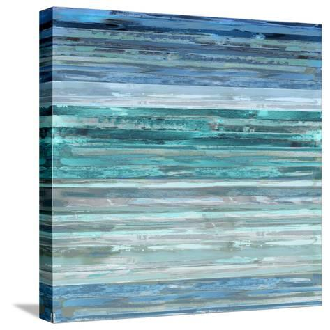 Strata In Aqua-Matt Shields-Stretched Canvas Print