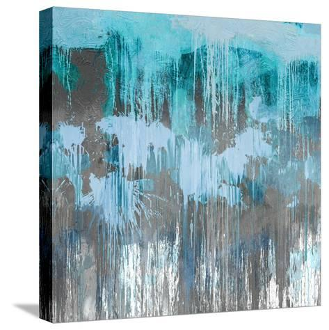 Unleashed Aqua-Tom Conley-Stretched Canvas Print