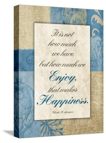 Enjoy Happiness-Jace Grey-Stretched Canvas Print