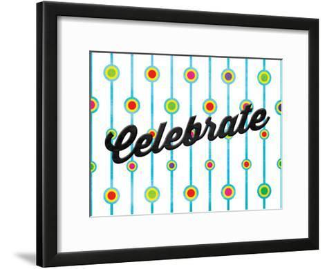 Celebrate Dots-Jace Grey-Framed Art Print