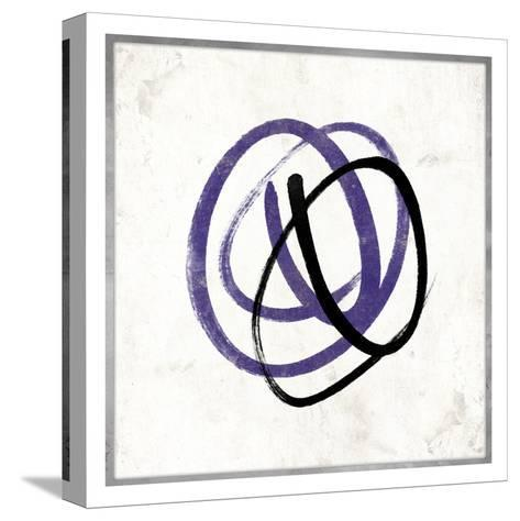 Abstract Circle Mate Purple-Jace Grey-Stretched Canvas Print