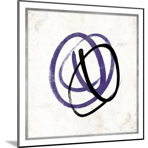 Abstract Circle Mate Purple-Jace Grey-Mounted Art Print