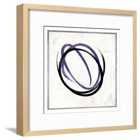 Abstract circle purple-Jace Grey-Framed Art Print