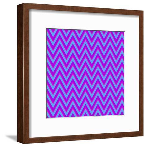 Chevron 6-Sheldon Lewis-Framed Art Print