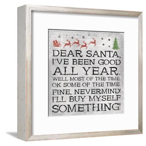 Dear Santa Nevermind Note-Jace Grey-Framed Art Print