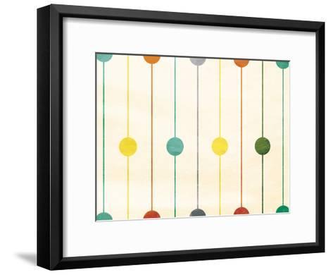 Retro Stripe Circles-Jace Grey-Framed Art Print