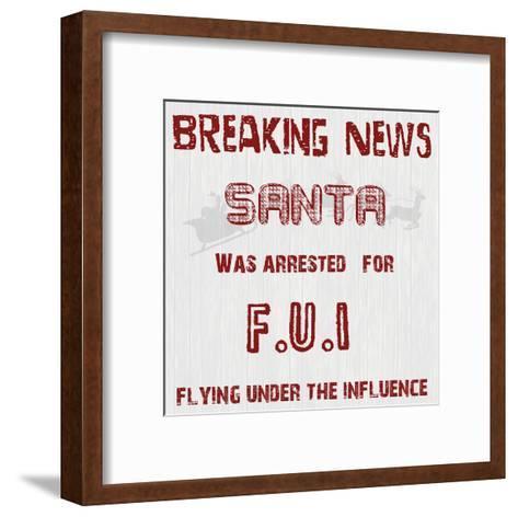 Santa's FUI-Sheldon Lewis-Framed Art Print