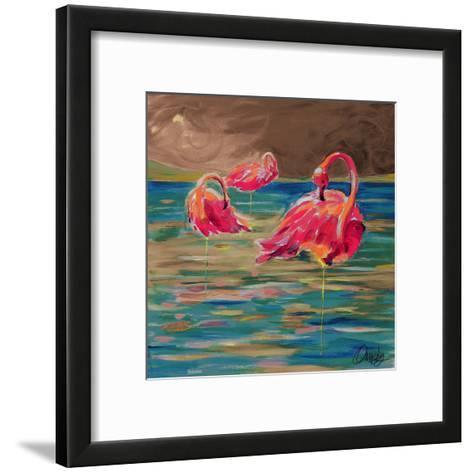 Trio Flamingos-Anne Ormsby-Framed Art Print