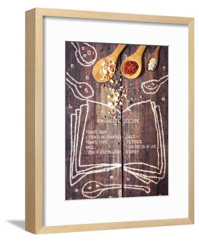 Kitchen Love English-Kuma Kuma-Framed Art Print