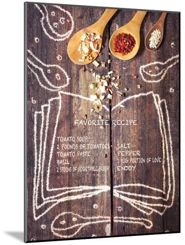 Kitchen Love English-Kuma Kuma-Mounted Art Print