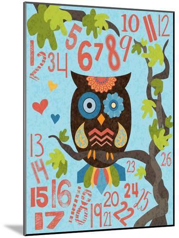Owl Set Numlet 2-Melody Hogan-Mounted Art Print