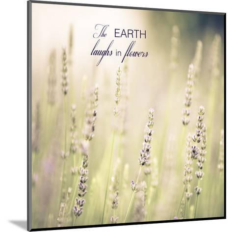 Lavender Fields Quote-Tracey Telik-Mounted Art Print