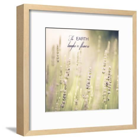 Lavender Fields Quote-Tracey Telik-Framed Art Print