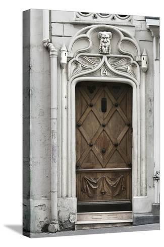 Paris Door-Tracey Telik-Stretched Canvas Print
