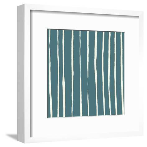Lined Pattern-Jace Grey-Framed Art Print