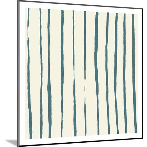 Lined Pattern Reverse-Jace Grey-Mounted Art Print