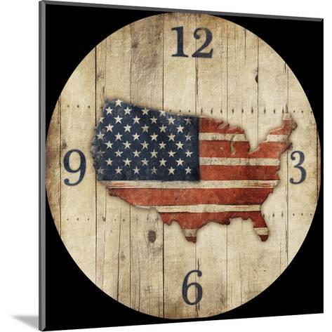 Wooden US Map Clock-Jace Grey-Mounted Art Print