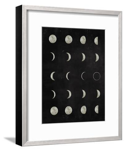 Moon-Peach & Gold-Framed Art Print