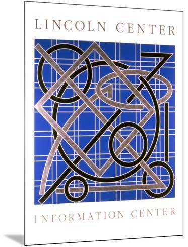 Lincoln Center Information Center-Valerie Jaudon-Mounted Collectable Print