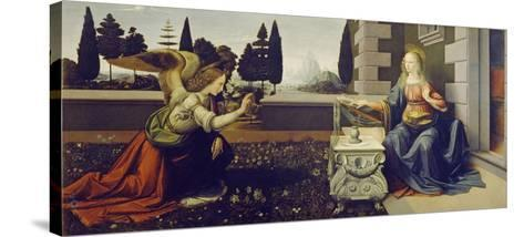 The Annunciation, ca. 1472-Leonardo Da Vinci-Stretched Canvas Print