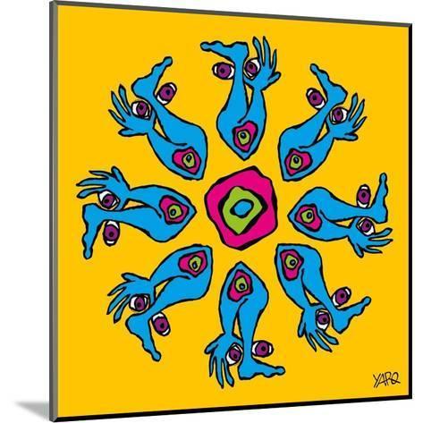 Hands and Feet Mandala-Yaro-Mounted Art Print