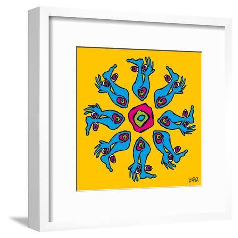 Hands and Feet Mandala-Yaro-Framed Art Print
