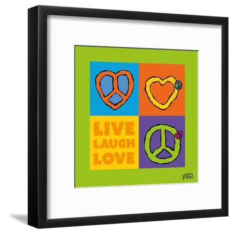 Live Laugh Love-Yaro-Framed Art Print