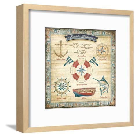 Symboles nautiques-Bruno Pozzo-Framed Art Print