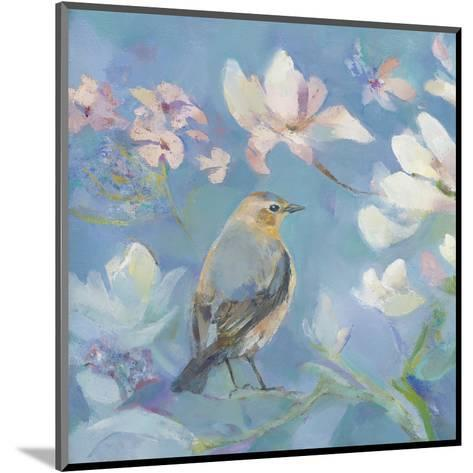 Birds in Magnolia - Detail I-Sarah Simpson-Mounted Art Print