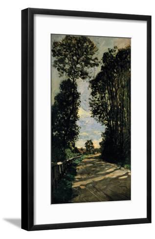 Road of the Farm Saint-Simeon-Claude Monet-Framed Art Print