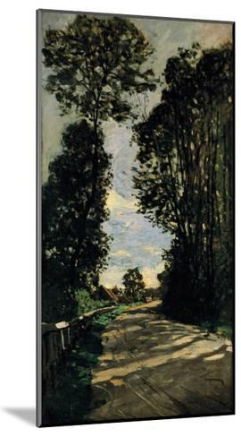 Road of the Farm Saint-Simeon-Claude Monet-Mounted Premium Giclee Print