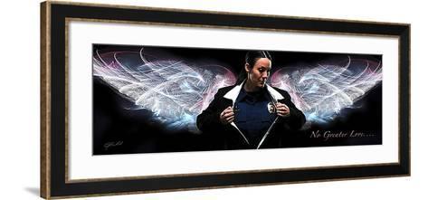 Answering the Call (Policewoman)-Jason Bullard-Framed Art Print