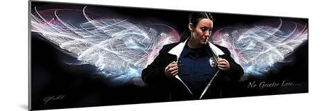 Answering the Call (Policewoman)-Jason Bullard-Mounted Art Print