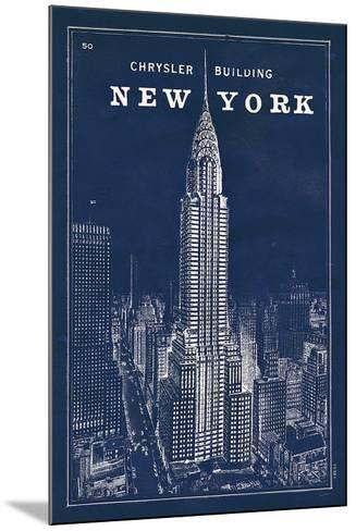 Blueprint Map New York Chrysler Building-Sue Schlabach-Mounted Art Print