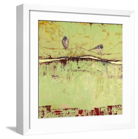Birds on Horizon in Green-Janice Sugg-Framed Art Print