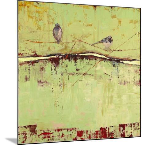 Birds on Horizon in Green-Janice Sugg-Mounted Art Print