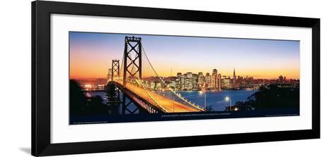 Bay Bridge with Skyline, San Francisco, CA-Karalee Griffin-Framed Art Print