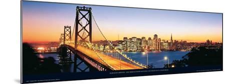 Bay Bridge with Skyline, San Francisco, CA-Karalee Griffin-Mounted Art Print